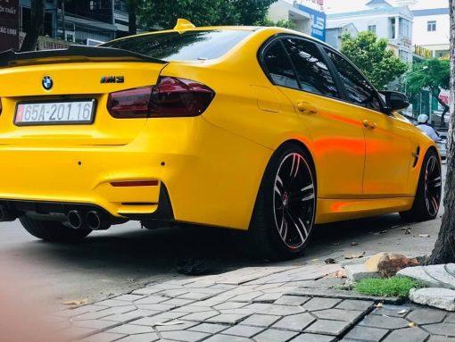 Dán Đổi Màu Xe BMW M3 Vàng