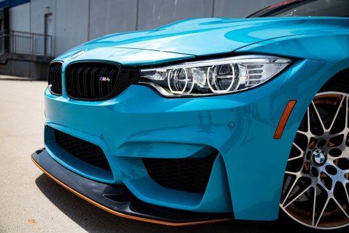 Dán Đổi Màu Xe BMW M4 Blue Sky