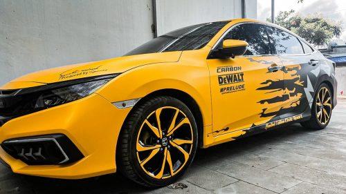 Dán Đổi Màu Xe Honda Civic Vàng Đen