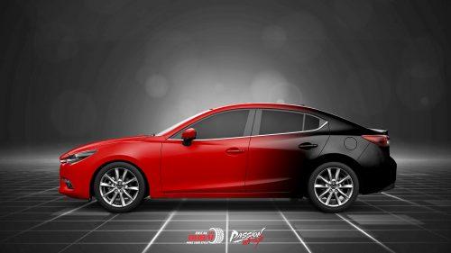 Dán Đổi Màu Xe Mazda 3 Style Đỏ Đen Cực Ngầu