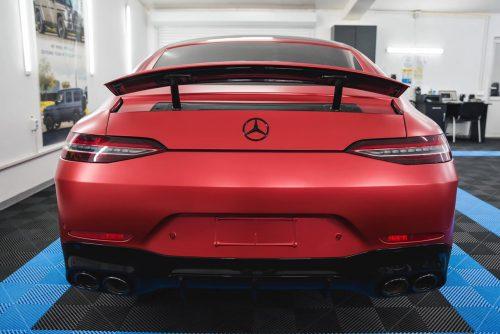 Dán Đổi Màu Xe Mercedes Benz AMG GT S Đỏ