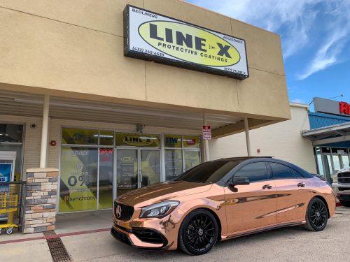 Dán Đỏi Màu Xe Mercedes Benz Chrome Vàng Đồng